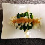 缶詰めで簡単おつまみ 鮭とほうれん草んのおろし醤油のレシピ