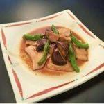 豚バラ肉と茄子のからし醤油炒め