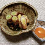 豚バラ肉の葱巻き~すき焼き風~