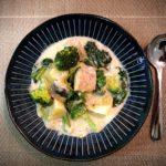 鮭缶  簡単 本格クリーム煮レシピ
