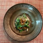 干し柿と春菊の白和え 簡単レシピ