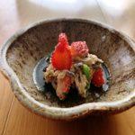 優しい味 イチゴと春菊の白和えの作り方