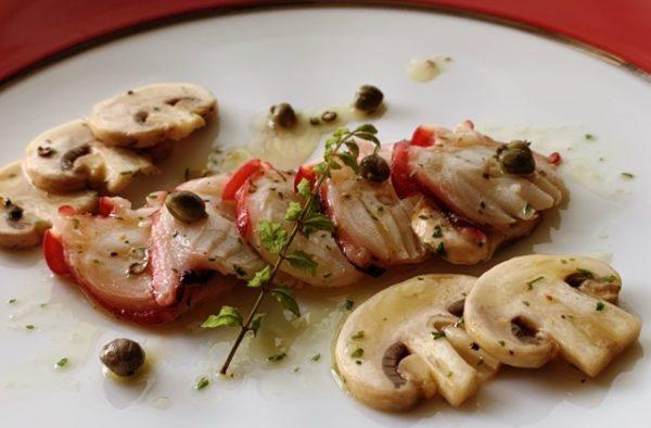 魚料理レシピ 夏場のおすすめレシピ 〖たことマッシュルームのマリネ〗の作り方