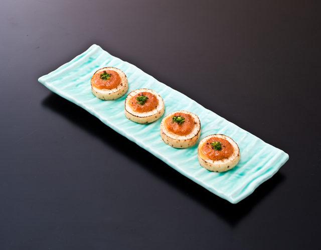 サクサク食感と生姜の香りがたまらない 焼き長芋の生姜味噌掛け