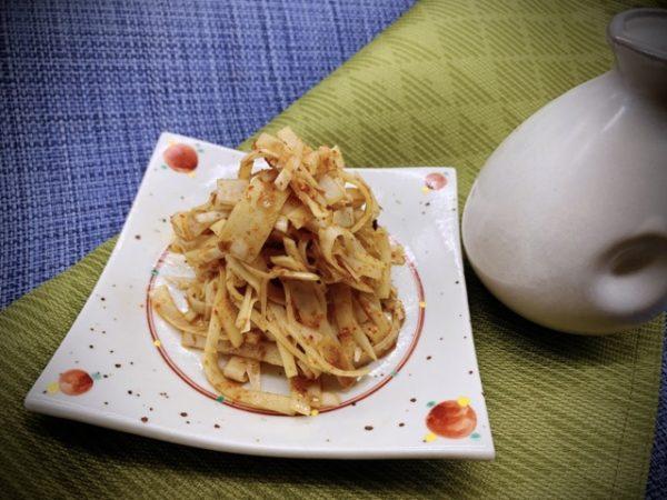 野菜料理レシピ 竹の子料理 【姫皮のピリ辛和え】の作り方