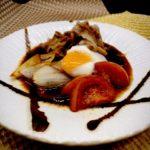 肉料理レシピ すき焼きアレンジ料理 【牛肉とトマトのすき煮】の作り方