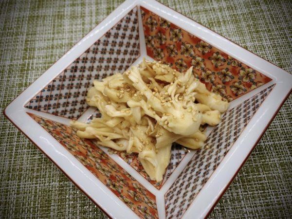 〖白マイタケのナムル〗の作り方 野菜料理レシピ きのこでナムル