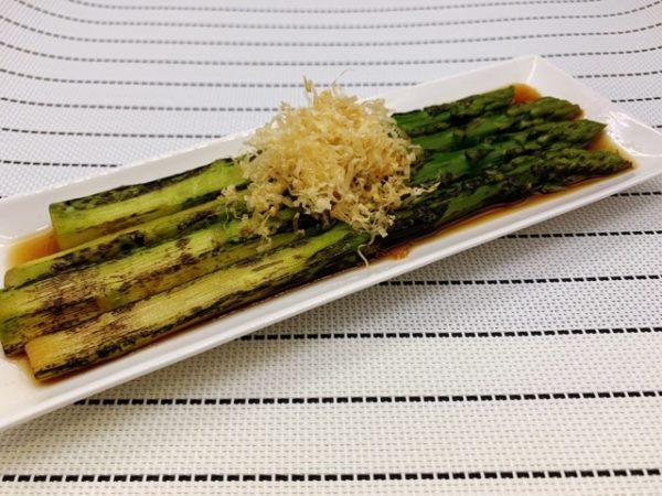 〖アスパラの焼き浸し〗の作り方 野菜料理レシピ 夏野菜で作るお浸し