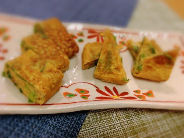 〖ニラの玉子焼き〗の作り方 玉子料理レシピ 美味しい厚焼き玉子